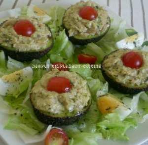 Salade d'avocats farcis au fromage et au thon* Délicieuse entrée pour le Ramadan*