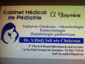 Ouverture du cabinet médical spécialisé en pédiatrie El yasmine