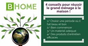 4 conseils de BHome Oran (société de nettoyage et de femmes de ménage) pour faire le grand ménage dans sa maison