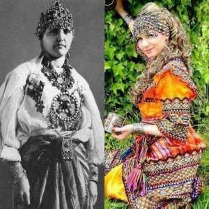 Robe kabyle avec dentelle