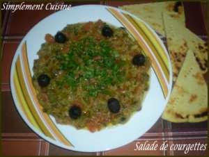 Salade de courgette tiède *idée entrée/salade Ramadanesques*