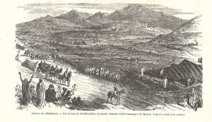 Histoire du Saint Sidi bel Abbes el Bouzidi :Napoléon III à Sidi Bel Abbes, le 16 mai 1865