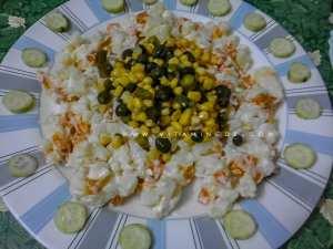 Macédoine : Riz, Thon, maïs et cornichon