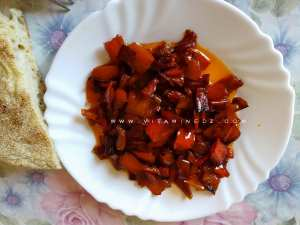 Poivron rouge grillé à l'huile d'olive
