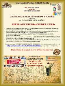 Seconde édition du CHALLENGE STARTUPPER DE L'ANNÉE