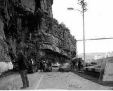 Constantine - Un énième éboulement sur la route de la Corniche