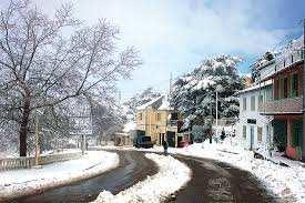 Blida - Premières chutes de neige sur les cimes de Chréa