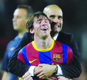 ليونيل ميسي وغوارديولا أفضل لاعب ومدرب في أوروبا 2011