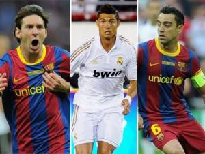 ميسي وتشافي ورونالدو يتنافسون على أفضل لاعب في أوروبا
