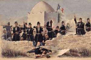 La bataille de Sidi-Brahim s'est déroulée du 23 au 26 septembre 1845 entre les troupes françaises et Abd El Kader. Elle dura 3 jours et 3 nuits.