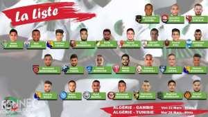 EN: Liste des 26 joueurs convoqués aux matchs face à la Gambie et la Tunisie