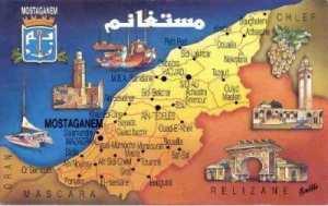 Situation géographique de la Wilaya de Mostaganem