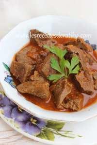 Kebda mchermla : le foie cuisiné a la façon algéroise