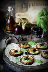 Aubergines au four, aubergine façon pizza (tomate-Mozzarella)