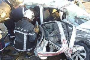 OUED SLY (Chlef) - 4 morts et 1 blessé dans un accident de la route