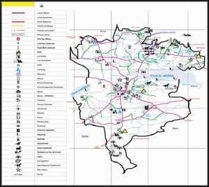 Données géographiques de la wilaya de M'sila