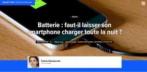 Batterie : faut-il laisser son smartphone charger toute la nuit ?