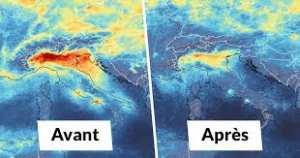 Planète (Confinement/Coronavirus) - Vue de l'espace: L'impressionnante amélioration de la qualité de l'air en Europe