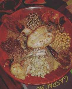 الكسكسي بسبعة انواع من البقول الجافة سيد المائدة #يناير بتيزي وزو