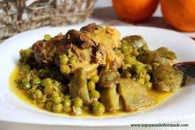 Djilbana bel-hame (petits pois à la viande)/ Plat Algérien Traditionel)