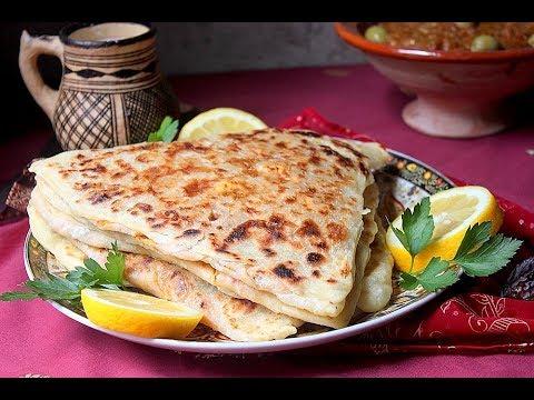 recette de mhajeb facile triangulaire