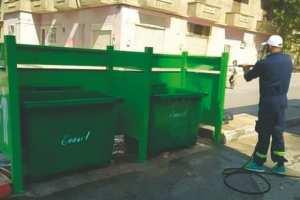 SÉTIF - Les bacs à ordures nettoyés