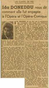 'Ida Doneddo ' LA CANTATRICE