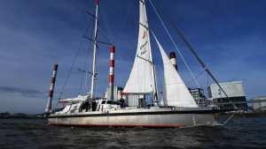 Planète (Europe/France) - Arrivée à Nantes du cargo à voiles 'Grain de Sail' après sa première transatlantique