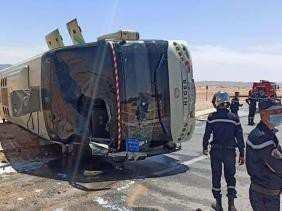 Naâma - 48 blessés suite au renversement d'un bus