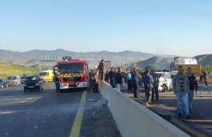 Ouled Rahmoune (Constantine) - 2 morts et 05 blessés dans une collision entre 2 voitures