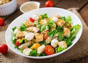 Salade de poulet à la moutarde