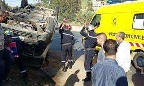Beni-Aziz (Sétif) - Une voiture tombe dans un ravin
