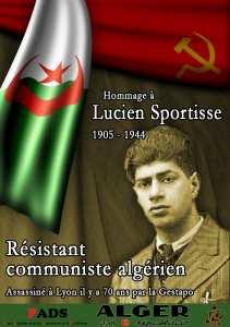 Hommage à Lucien Sportisse, militant communiste algérien assassiné par la Gestapo à Lyon le 24 mars 1944
