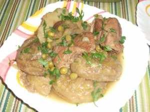 Artichauts à la viande (Karnoun belham)/Plat Algérien.