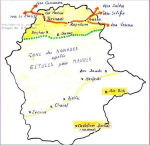 Plans Et Cartes Algérie GEOGRAPHIE Articles - Ouargla map