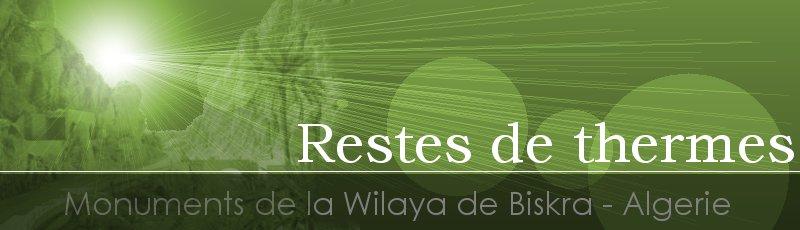 بسكرة - Restes de thermes