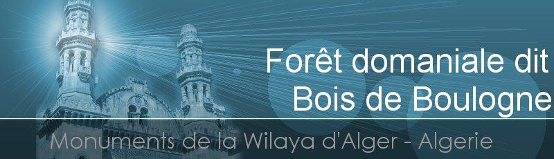 Alger - Forêt domaniale dit Bois de Boulogne