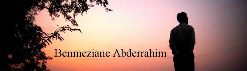 الجزائر العاصمة - Benmeziane Abderrahim