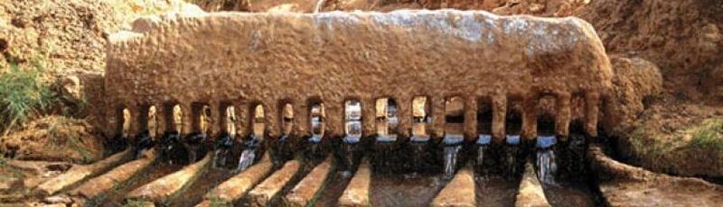 Algérie - Foggaras (système traditionnel de distribution des eaux)