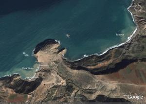 Plages de Ouardania et Malous image satellite