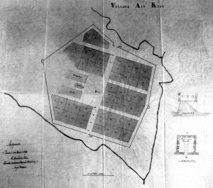 Plan du projet initial de création du village