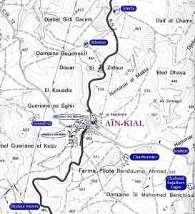 Carte du village et des alentours