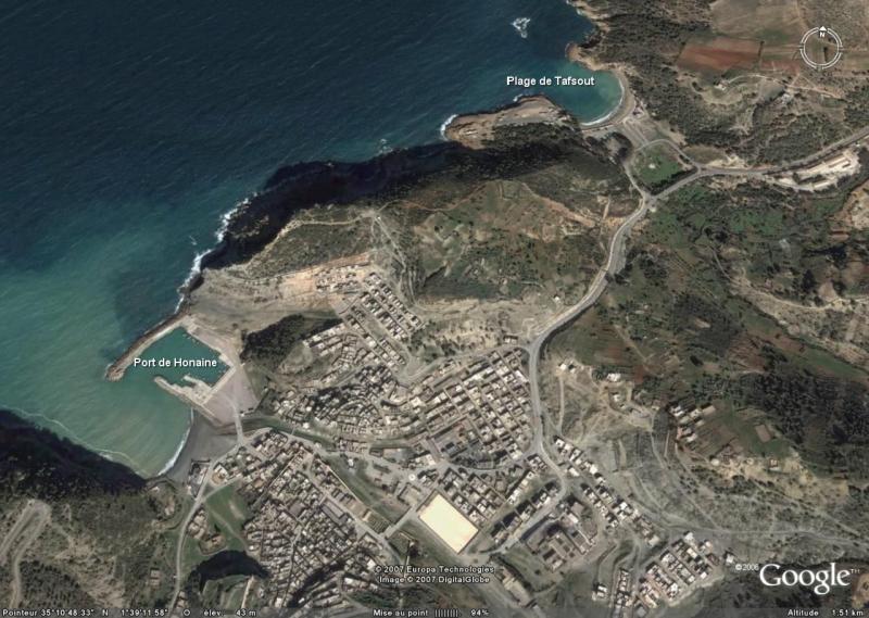 Port de Honaïne et plage de tafsout  image satellite