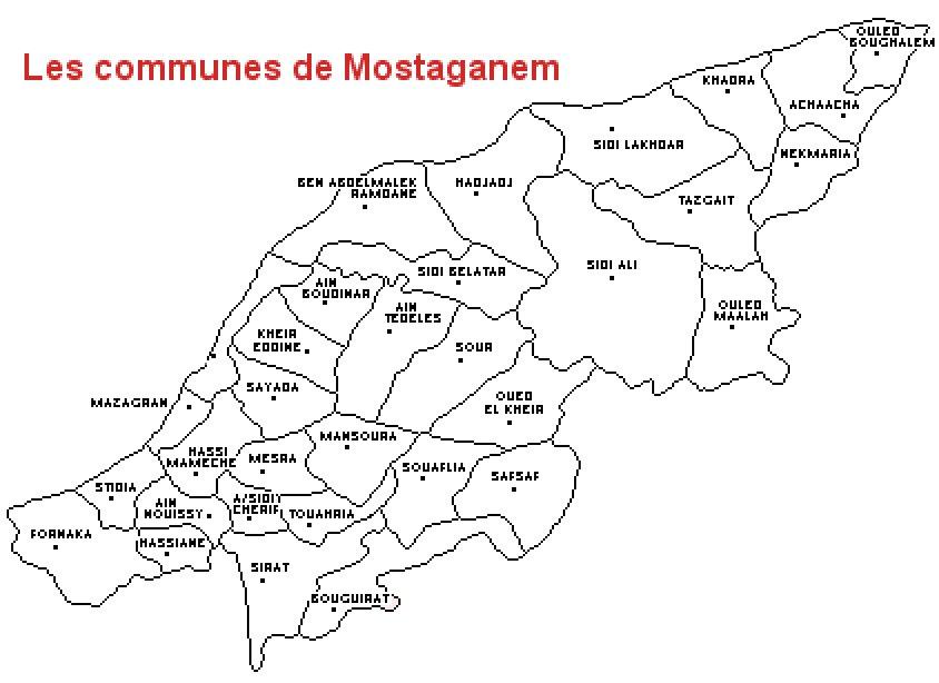 Communes de Mostaganem