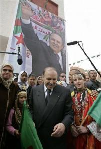 Algeria's President Abdelaziz Bouteflika smiles during an official visit