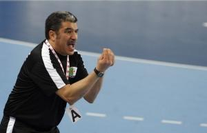 Algeria's head coach Kamel Akkeb reacts during their Men's