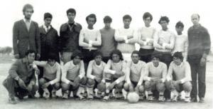 فريق كرة القدم لمدينة طابية سنة 1971