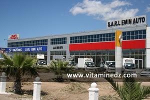 SARL EMIN AUTO, Nouveaux showrooms de concessionnaires à Essenia, route de l\'Aéroport