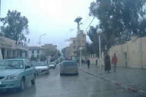 شوارع مدينة برج بوعريريج تحت الأمطار