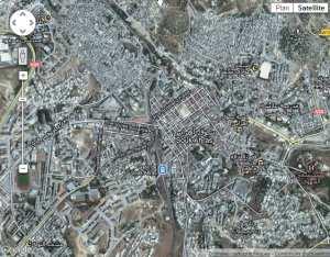Images satellite de la ville de Souk-Ahras 2012